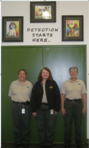 Left to right: Yen Crawley (Training Specialist), Kathy Warfield (Training Technician), Carol Franklin (CGC Evaluator)