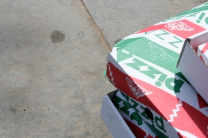 pizza box sidewalk